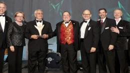 Barney Frank accepts award, Fenway Health