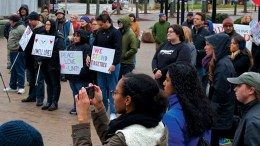 lowell trump protest in favor of LGBTQA community
