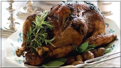 Turkey stuffed with chestnuts