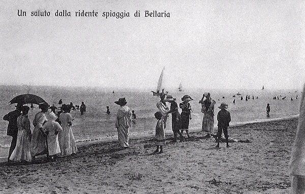 Bellaria-Igea Marina Italy beach 1920 Nonna Violante Hotel Eliseo #lovingromagna