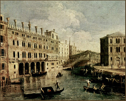 Fondaco-dei-Tedeschi--Canaletto-LVMH-Benetton-Rialto Bridge-Venice-Venezia