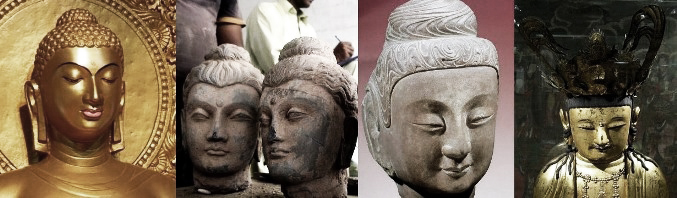 Depictions of Buddha: Caucasian and Asian, by Laura Kelley at //www.silkroadgourmet.com/hannah-glasse-curry/
