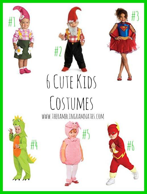 6 Cute Kids Costumes