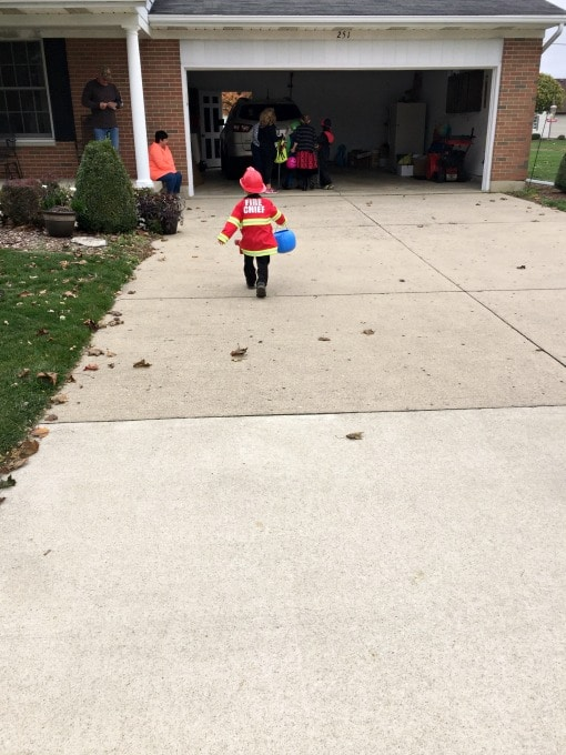 Logan's First Trick-or-Treating