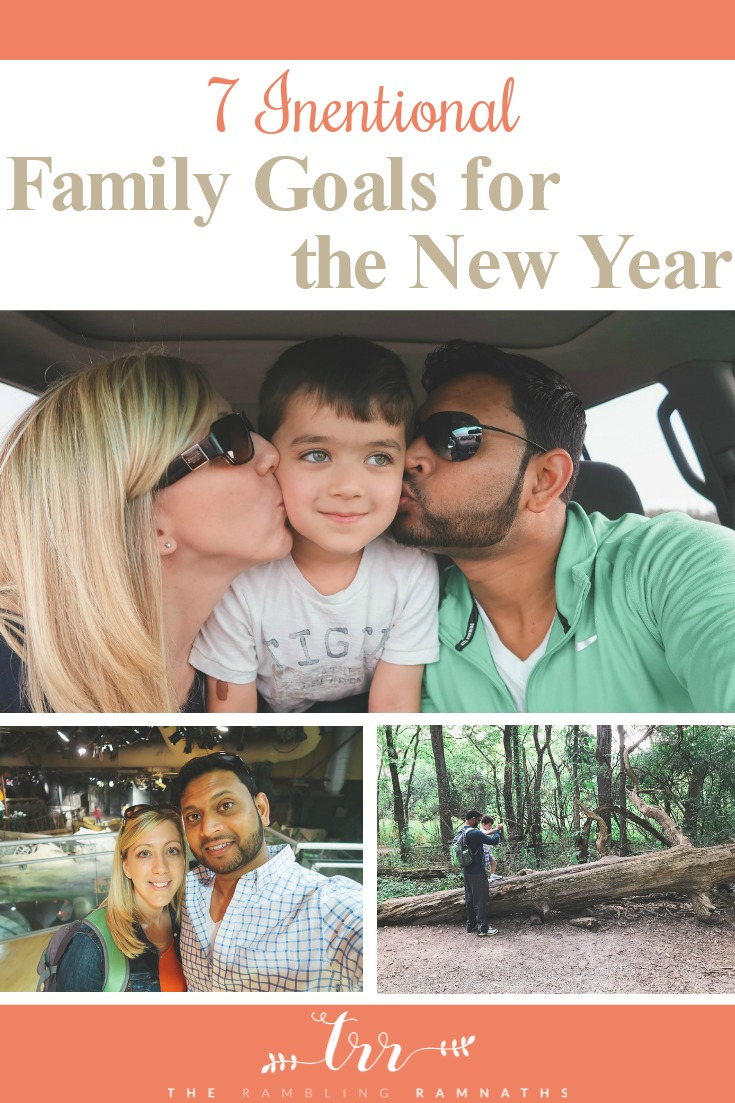 7 Intentional Family Goals for the New Year - Taking the time to make sure your family grows closer through the year is so importnat and here are 7 simples goals you can make as a family that helps make time together important.