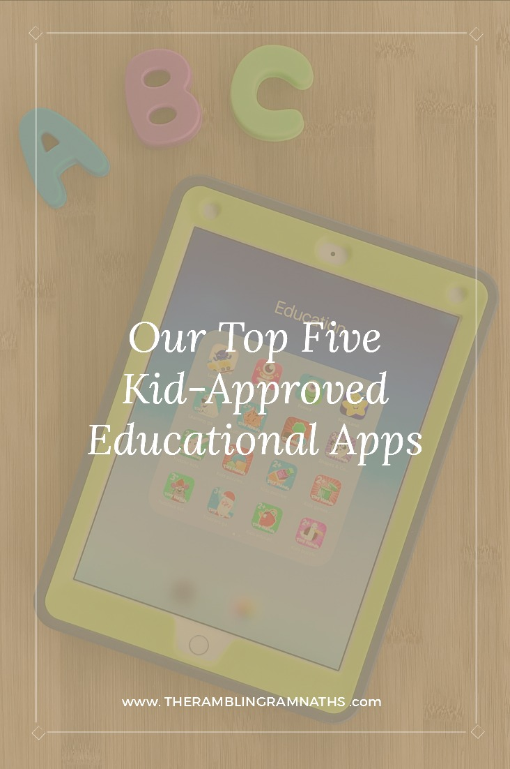 Some days you just need to get a few things done and tablet time is one of the easiest ways to keep your child distracted for a litlte while. Or maybe you are traveling and need a way to keep your child entertained for a long car ride or flight. Here are 5 kid-approved educational apps!