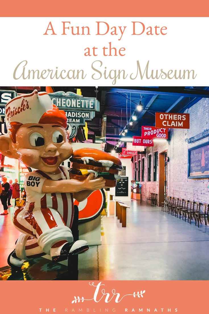 If you live close to Cincinnati Ohio or will be visiting soon, be sure to stop in and check out the American Sign Museum! It proved to be the fun day date for us on a recent weekend away. It would also make a great family outing.