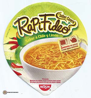 Meet The Manufacturer: Re-Review: Nissin RapiFideo Sabor A Chile Y Limon - Mexico - The Ramen Rater - fideos instantanea