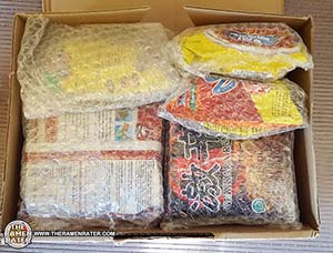 Donation of instant noodles from Australia from Ramen Regret Rater - The Ramen Rater