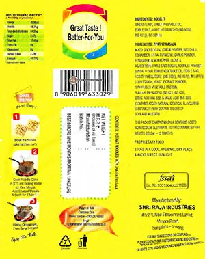 #2351: 1 To 3 Noodles Chatpat Masala - India - The Ramen Rater - instant noodles