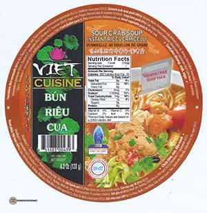 #2354: Vifon Viet Cuisine Bun Rieu Cua Sour Crab Soup Instant Rice Vermicelli - Vietnam - The Ramen Rater - instant noodle