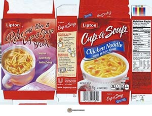 #2544: Lipton Cup-a-Soup Chicken Noodle With White Meat Instant Soup - United States - The Ramen Rater