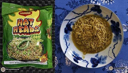 Spiciest #9: Maggi Hot Heads Green Chilli Noodles - India - The Ramen Rater's Top Ten Spiciest Instant Noodles Of All Time 2017 Edition
