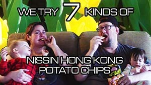 We Try 7 Kinds Of Hong Kong Potato Chips!