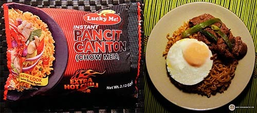 #1:Lucky Me! Instant Pancit Canton (Chow Mein) Extra Hot Chili Flavor