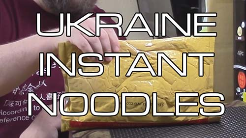 Unboxing Time: Ukrainian Instant Noodles!