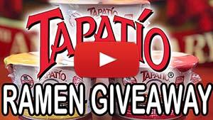 Tapatio Ramen Giveaway