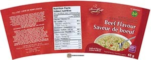 #3217: Bowlfull Beef Flavour Instant Noodle Soup - Canada