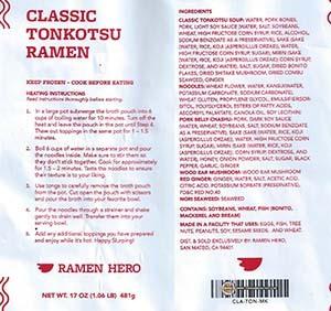 #3256 Ramen Hero Classic Tonkotsu Ramen - United States