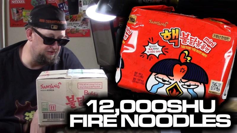 12,000 SHU Buldak Mini Limited Edition Fire Noodles!