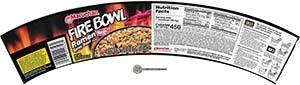 #3374: Maruchan Fire Bowl Ramen Spicy Beef Flavor - United States