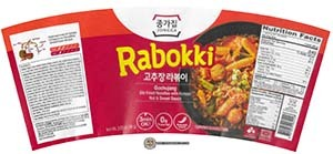 #3661: Jongga Rabokki Gochujang Stir Fried Noodles With Korean Hot & Sweet Sauce - South Korea