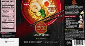 #3685: Nissin Raoh Soy Sauce Flavor Ramen Noodle Soup - United States