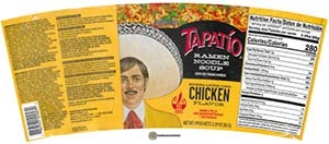 #3781: Tapatio Ramen Noodle Soup Chicken Flavor - United States