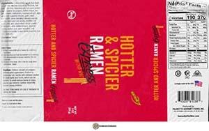 #3784: Ramen Express By Chef Woo Hotter & Spicier Ramen - United States