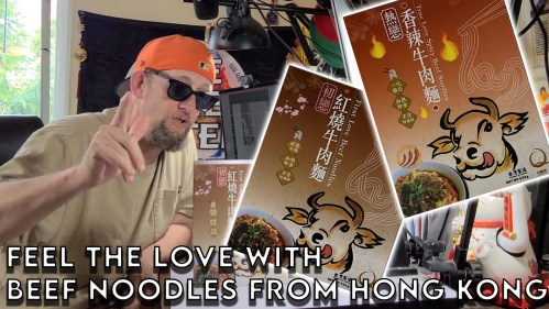 Little Q Beef Noodles From Hong Kong Unboxing