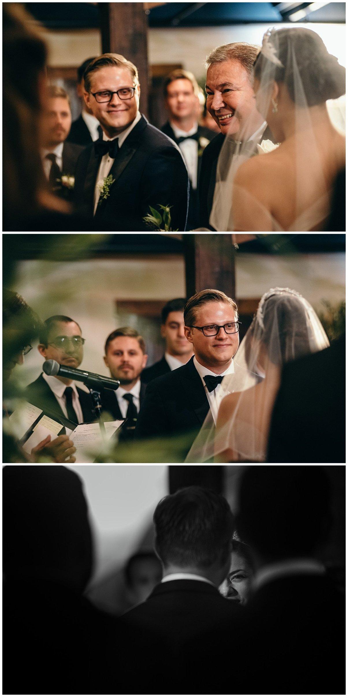 wedding ceremony indoor at agave estates