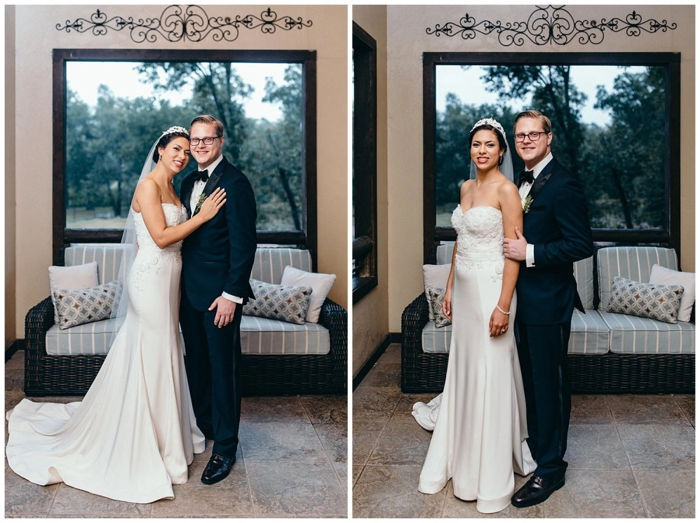 formal bride and groom portraits