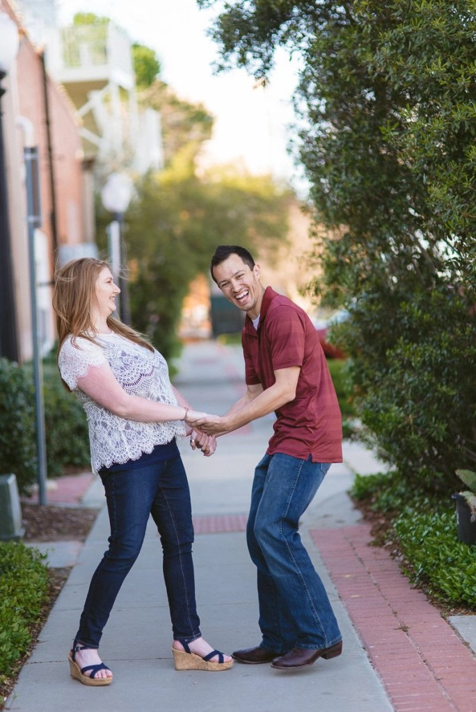 laughing engagement pictures