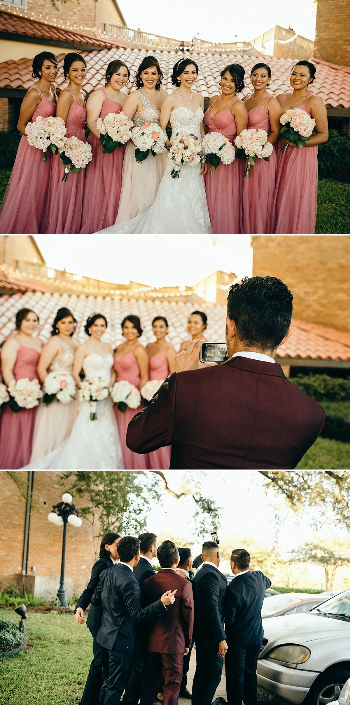 bridesmaids portraits at the gallery houston