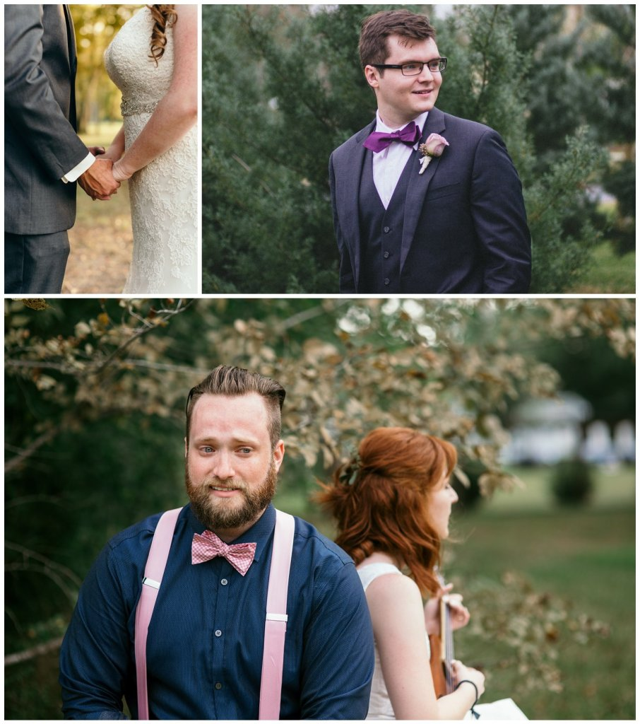 pictures for a first look to help schedule a wedding