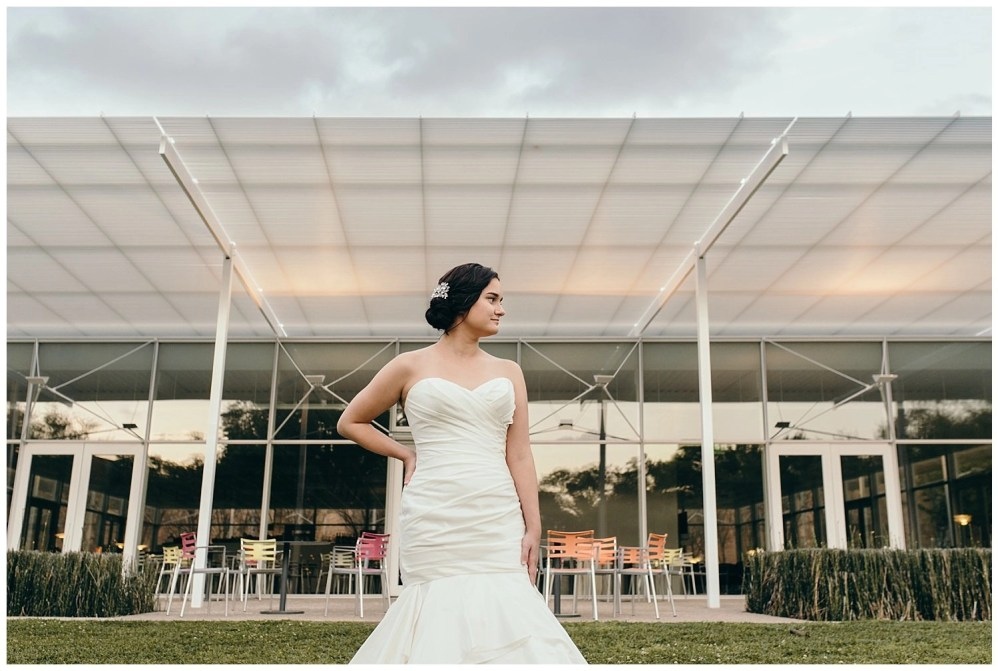 modern bridal portraits at rice university