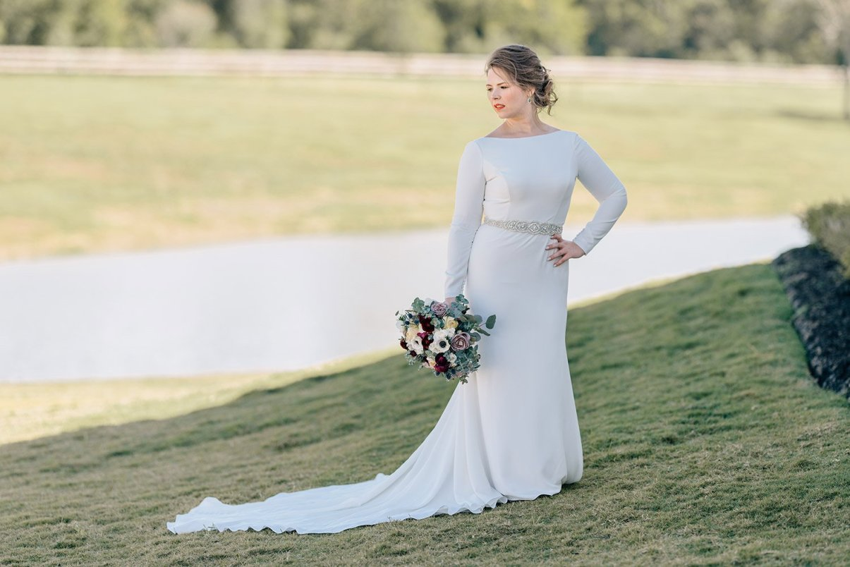 beautiful bride in mikaella dress