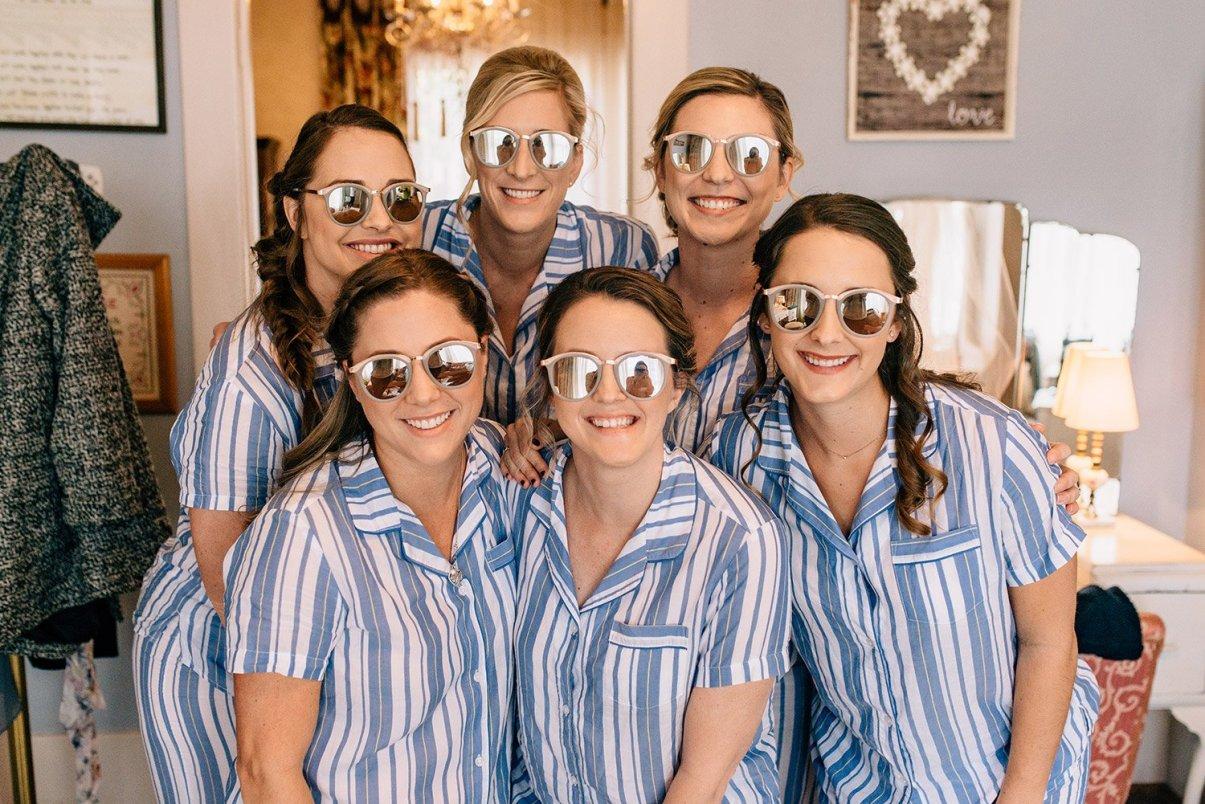 bridesmaids wearing sunnies