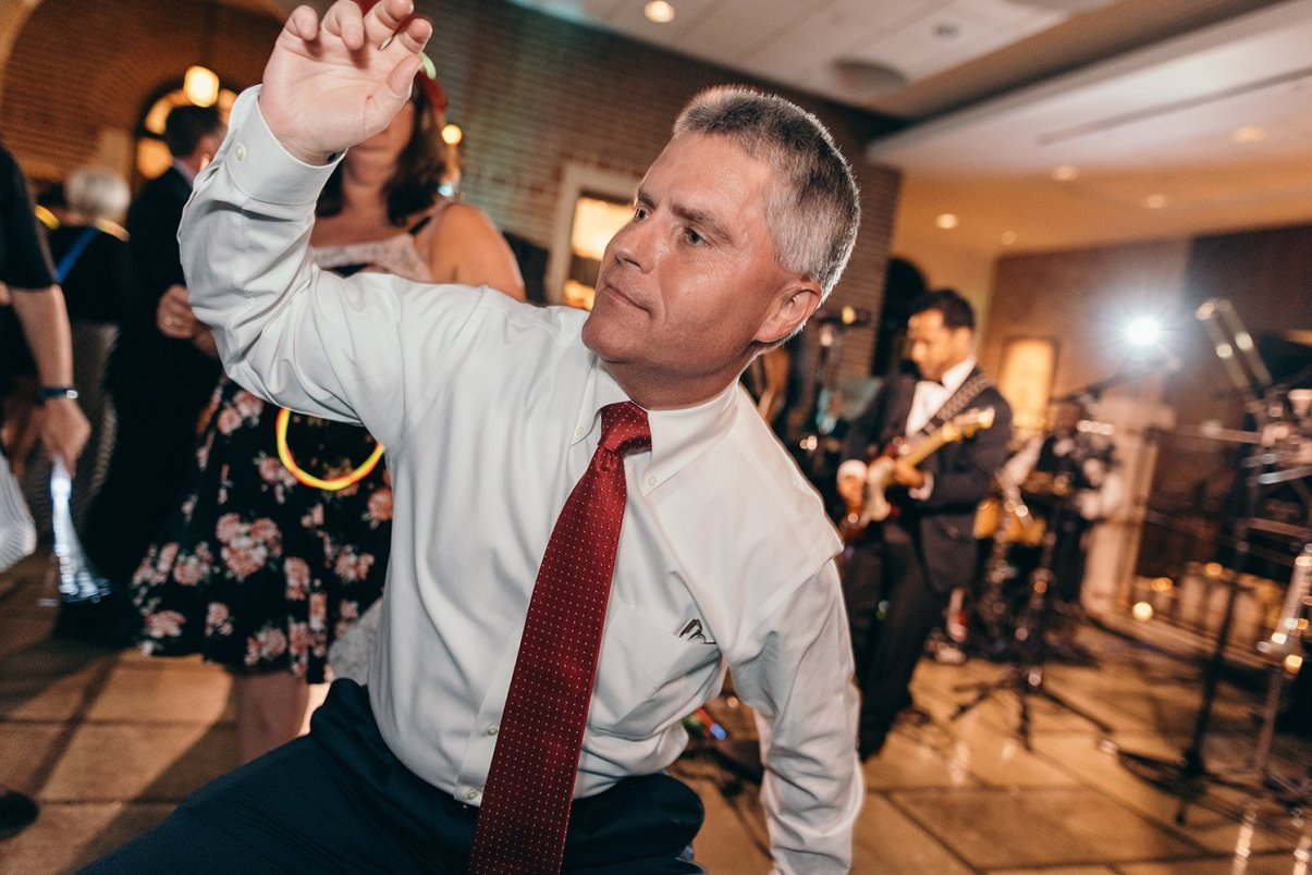 getting down at a wedding