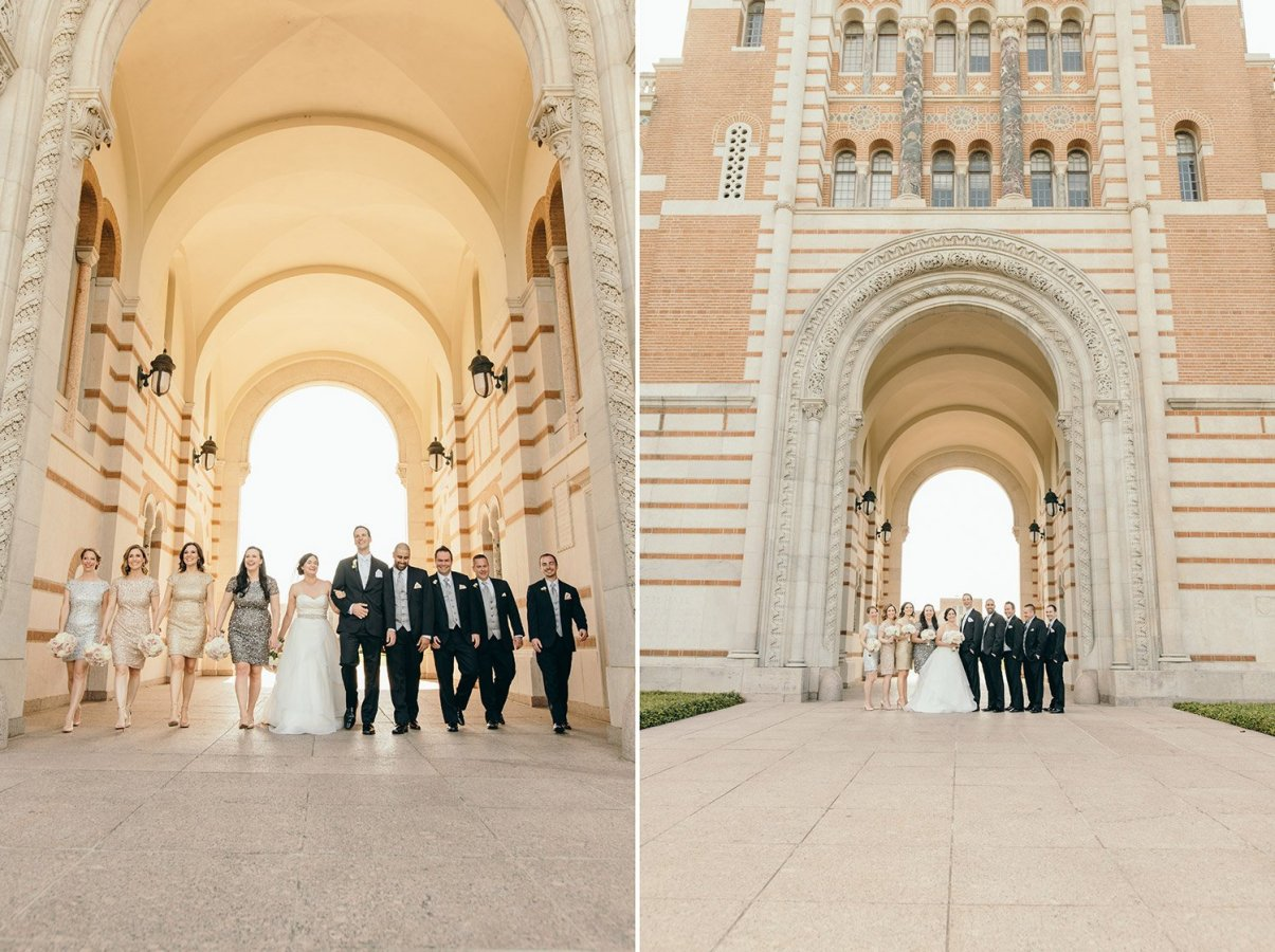 wedding party at rice university