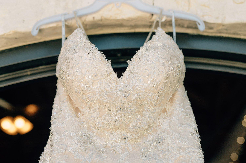 wedding dress detail shot
