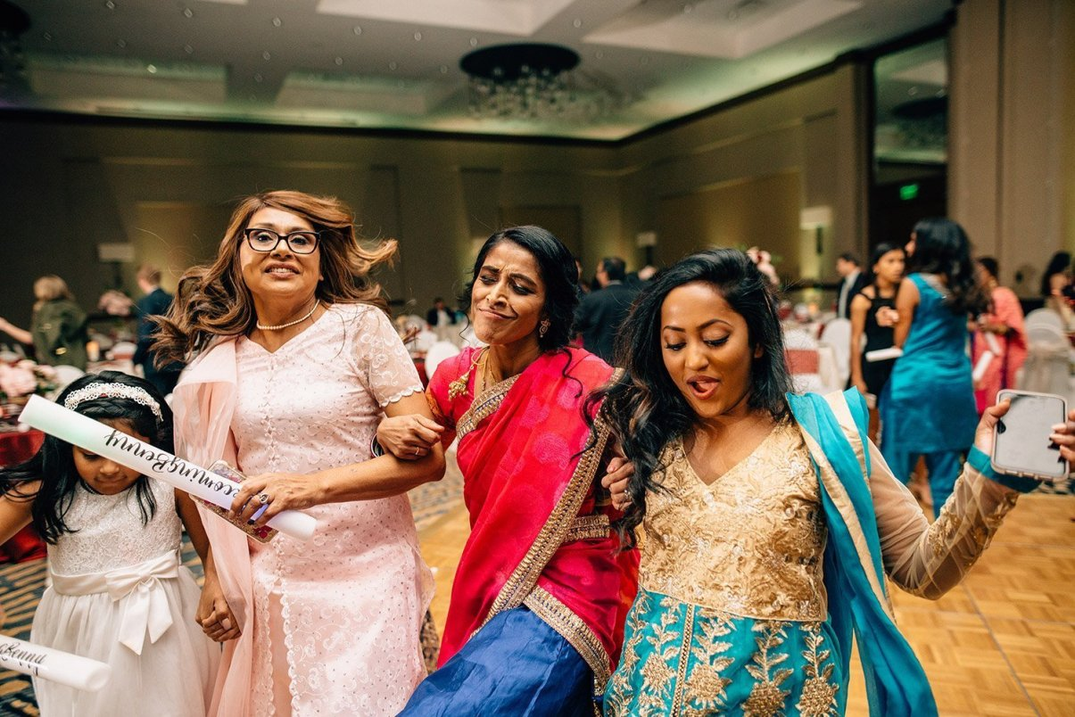 wedding guests enjoying reception at the woodlands resort