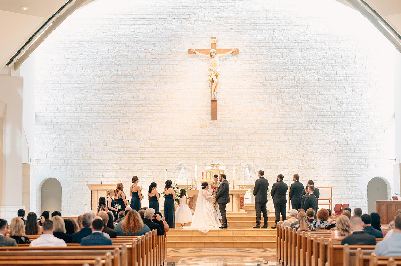 wedding mass at St. John Vianney catholic church