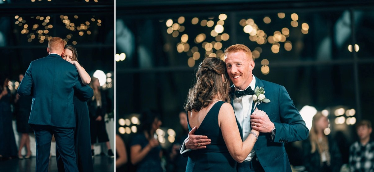 groom dances with his mother at jennings trace