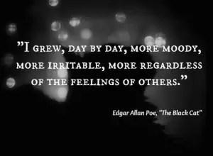 Edgar allan poe quotes sad -The black cat images