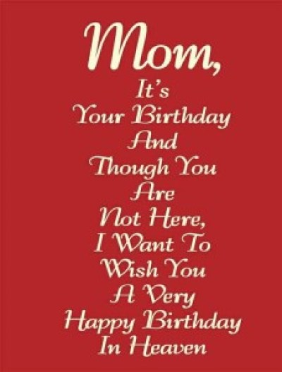 Heart Touching Happy Birthday Mom Quotes Images