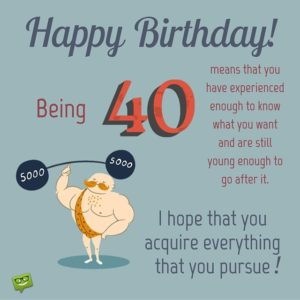 funny birthday wishes at 40