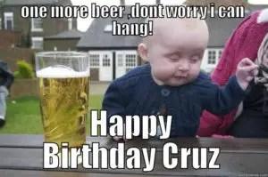 funny birthday wishes drunk