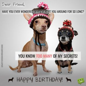 funny birthday wishes friends