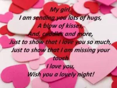 WIshing Good Night to Girlfriend